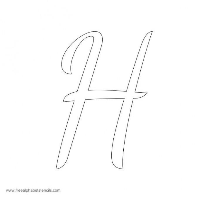 capital letter j template  1950s Casual Cursive Alphabet Stencils ..