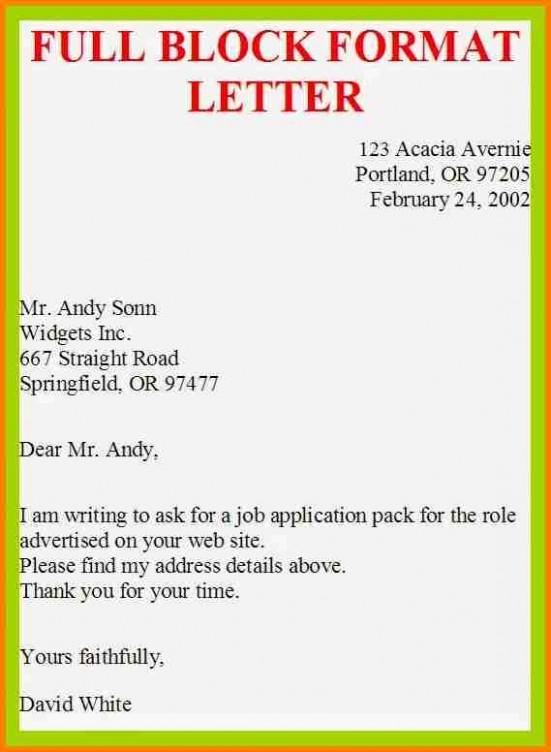 letter template informal  5+ example of full block business letter | penn working papers - letter template informal
