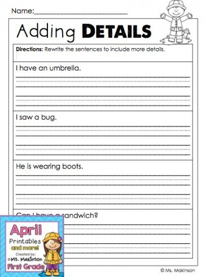 4th grade letter template for kids  April Printables - First Grade Literacy and Math | Third ..