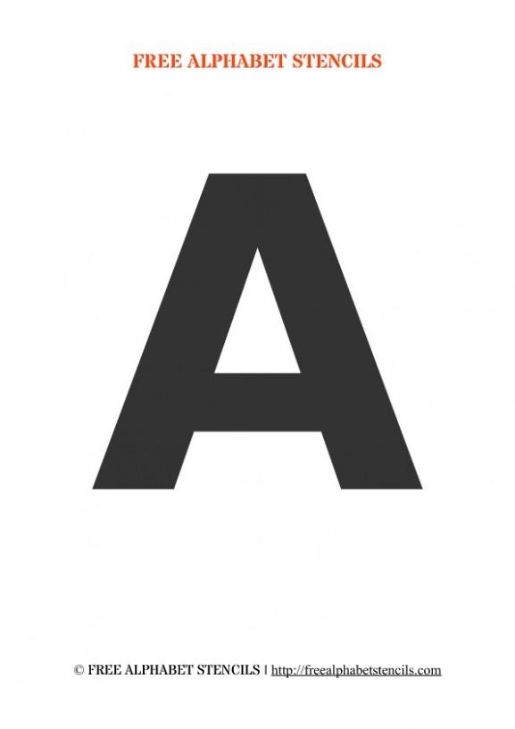 block letter template h  Bold Alphabet Stencils   FreeAlphabetStencils