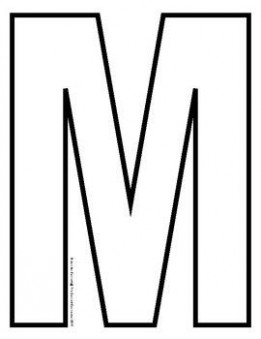 uppercase letter q template  Capital Letter Outlines for A-Z | Letter m crafts, Q ..