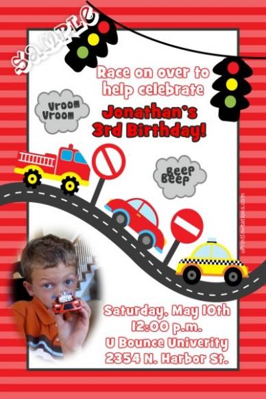 letter f template printable  Car Transportation Birthday Invitations - letter f template printable