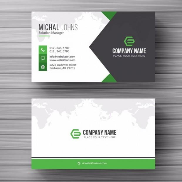 business card template qr code  Cartão De Visita Com Detalhes Verde Modelo para download ..