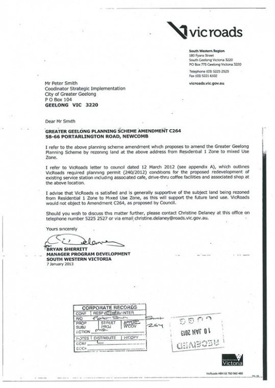 letter template on behalf of  Council Minutes - Section B: Reports - 9 April 2013 - letter template on behalf of