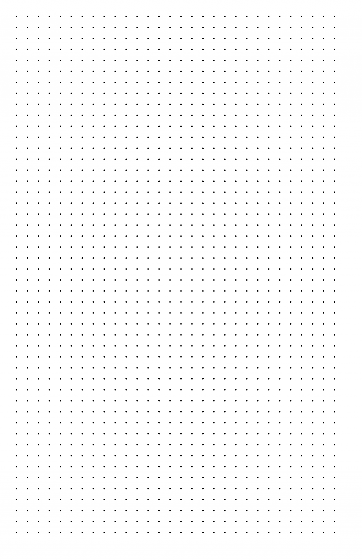 letter f template printable  Dot Paper with Three Dots per Inch on Ledger-Sized Paper ..