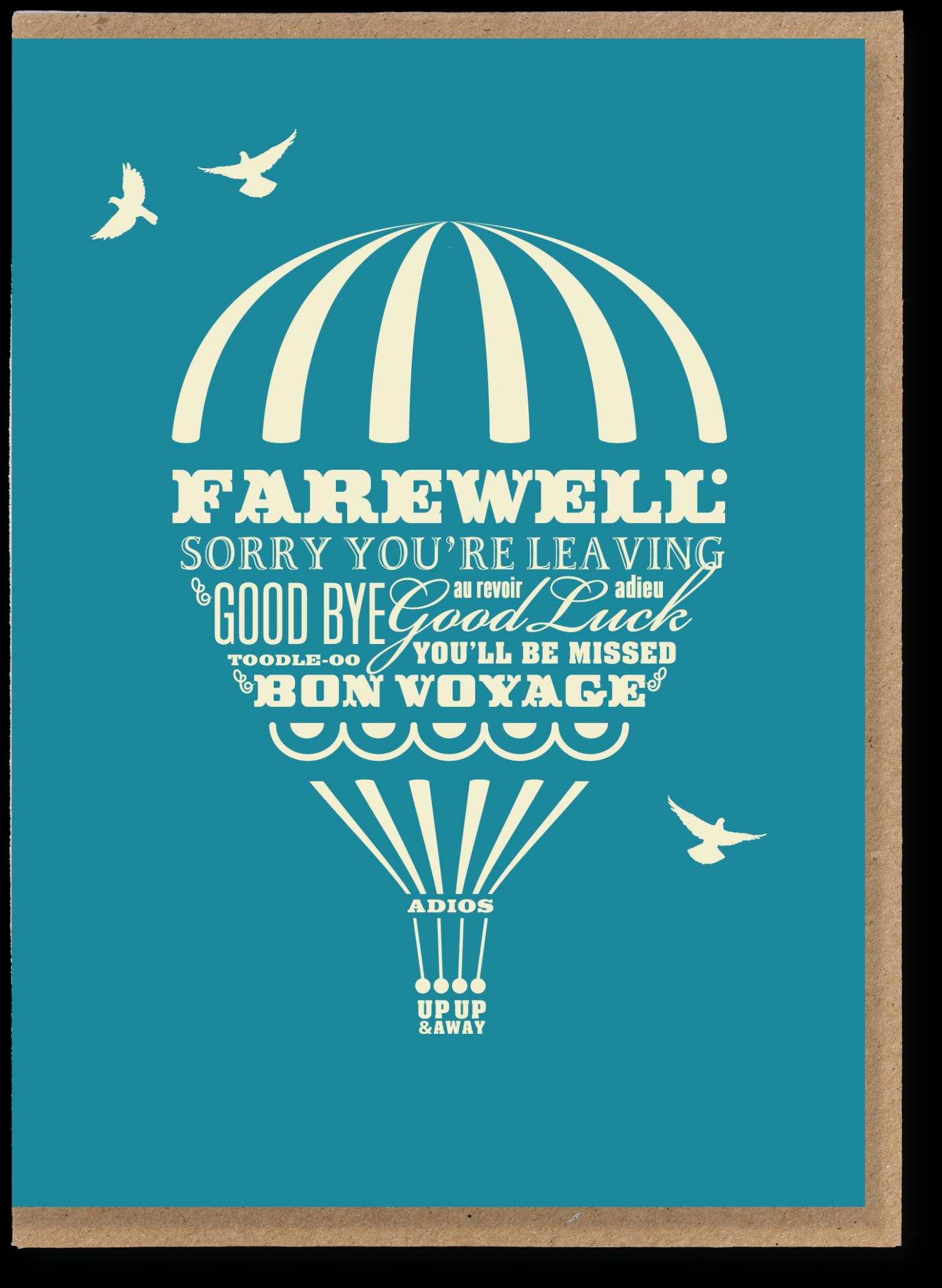 farewell card template microsoft word  Farewell balloon - JMT 20 - Greetings cards and art prints ..