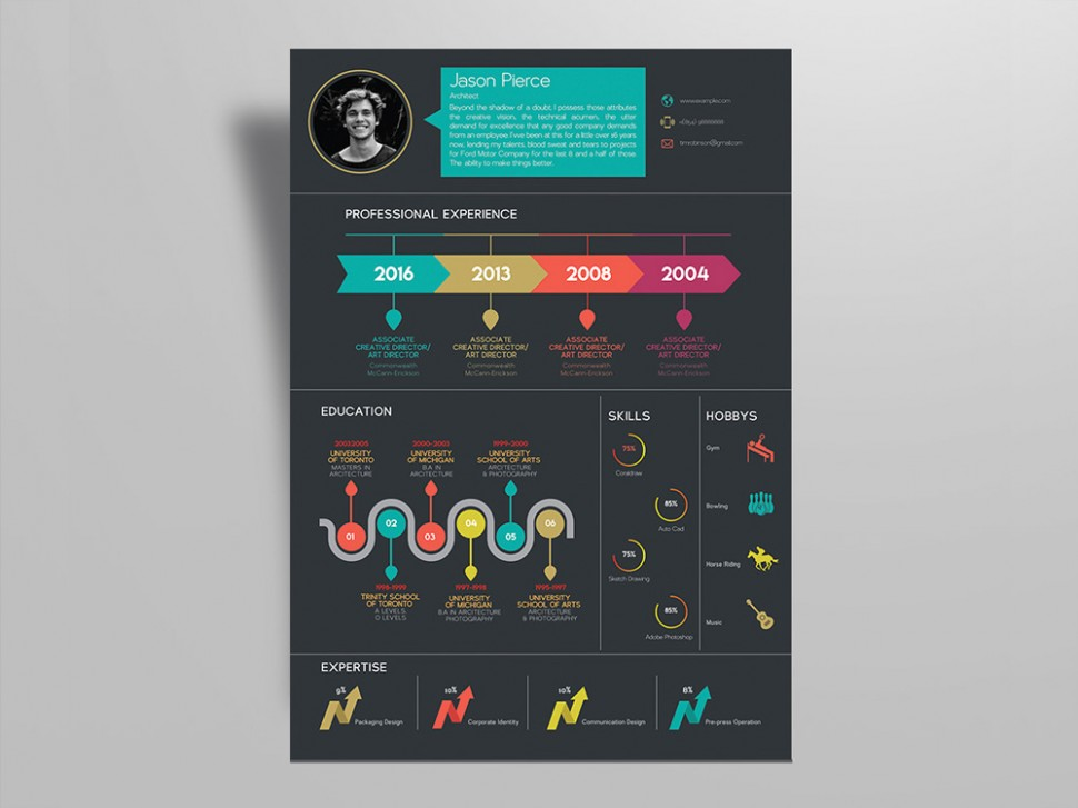 cover letter template job  Free Creative Infographic Resume Template for Any Job ..