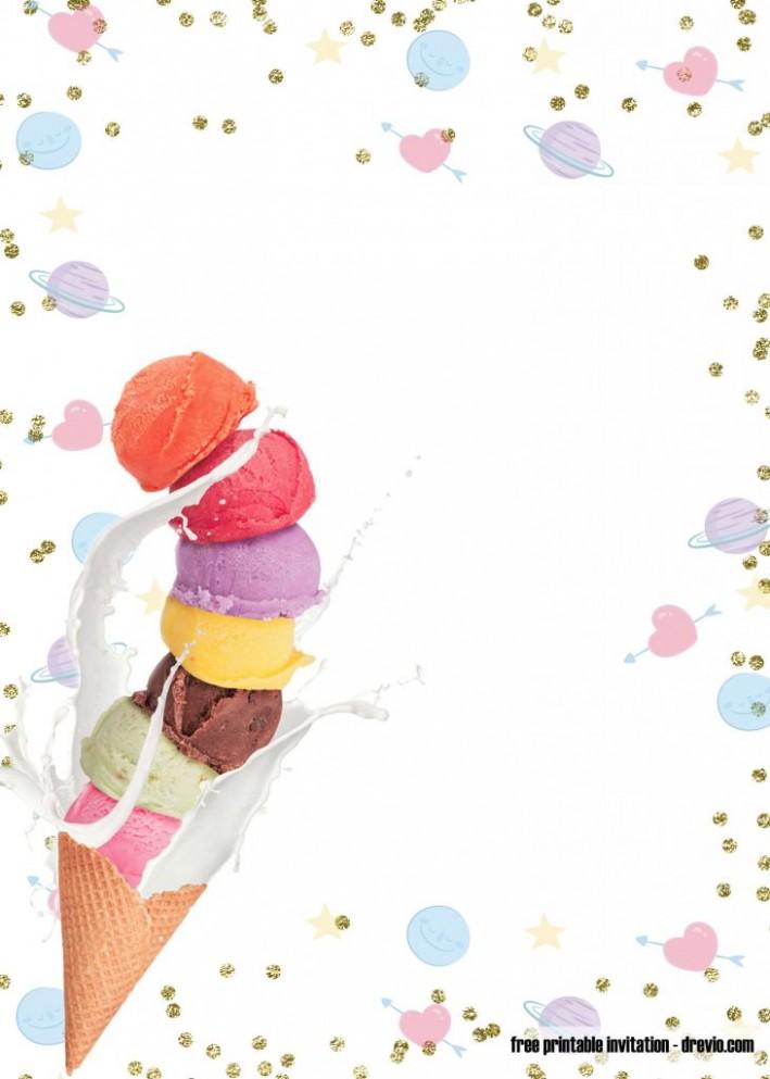 invitation card template online  FREE Printable Ice Cream Birthday Invitation Templates ..