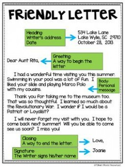 letter writing template grade 3  Friendly Letter Freebie | Friendly letter, Lettering ..