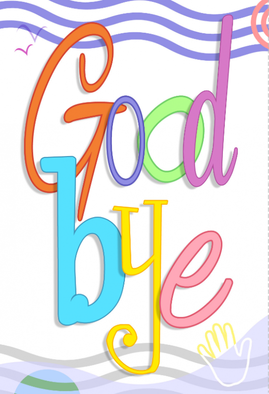 thank you card template kindergarten  Good Bye - Farewell Card (Free) | Greetings Island - thank you card template kindergarten