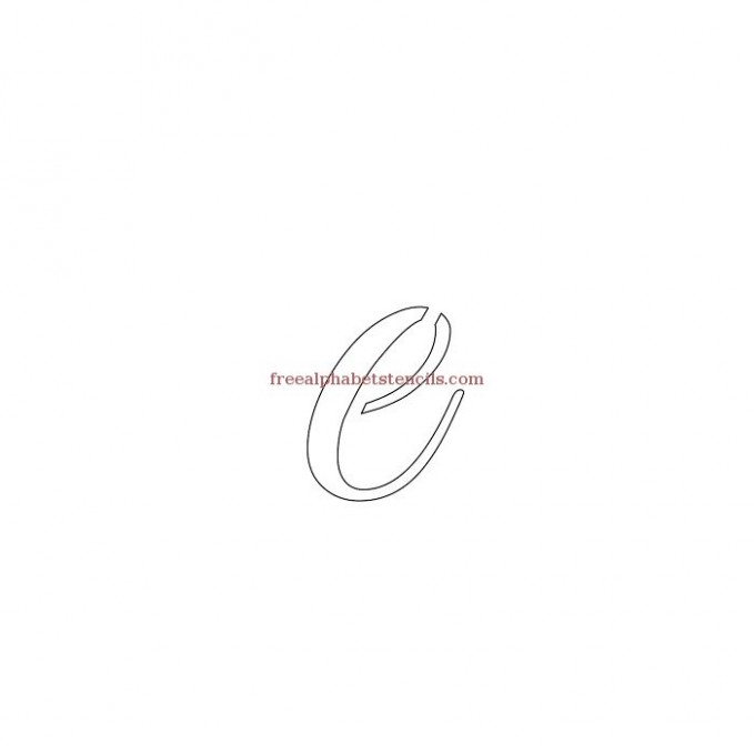 free printable letter z template  Graceful Calligraphy Alphabet Stencils ..