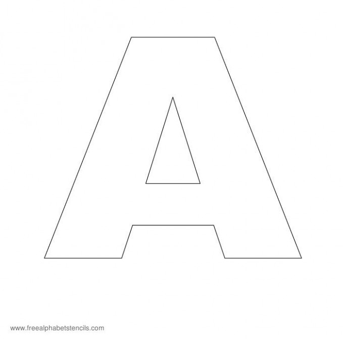 free printable letter z template  Headline Poster A-Z Alphabet Stencils for Signs ..