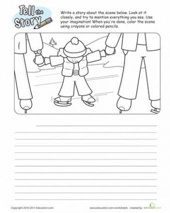 4th grade letter template for kids  Ice Skating Story Starter | Story starters, 3rd grade ..