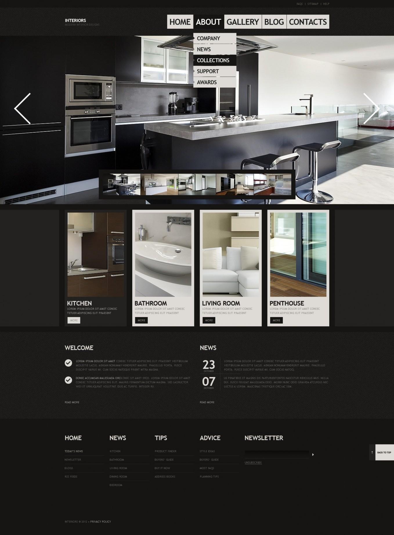 template design brochure examples  Interior Design Website Template #40455 - template design brochure examples