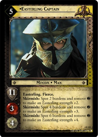 card template png  LotR TCG Wiki: Easterling Captain (4R225) - card template png