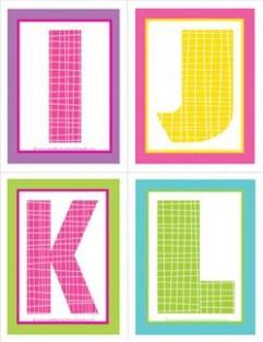 free printable letter z template  Medium Alphabet Letters IJKL - Polka Dot and Plaid ..