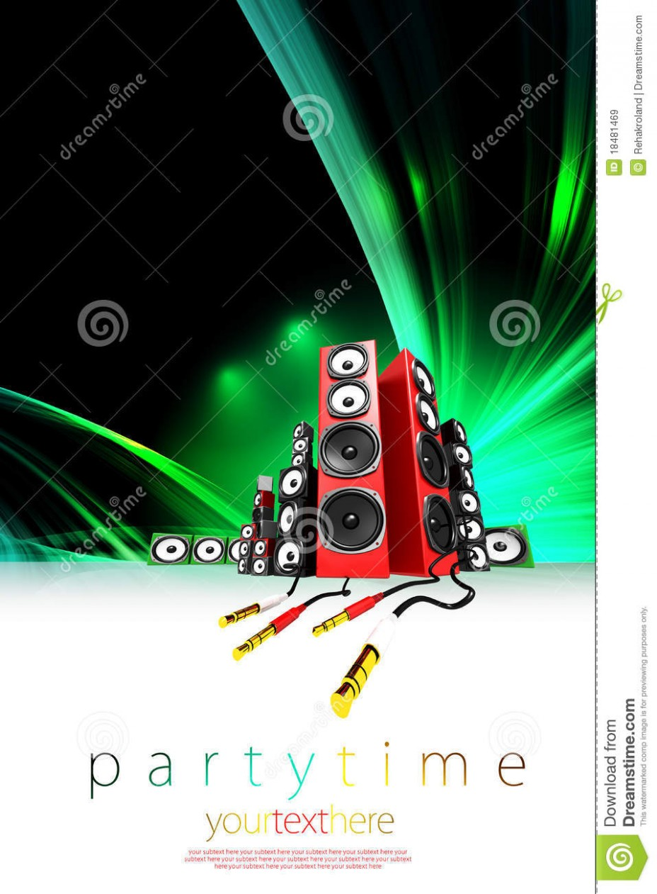 card template vector image id card  Music Party Poster Template Stock Illustration - Image ..