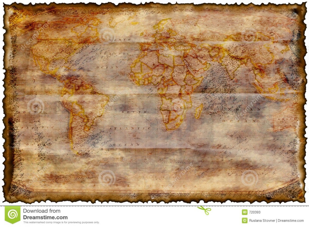 z card template free  Old burned map stock illustration. Image of template, card ..