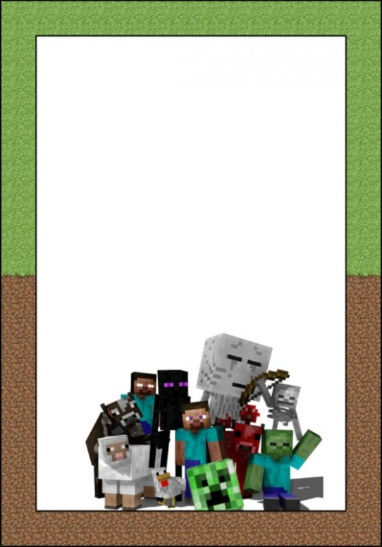 invitation card template online  Party at Ease with Minecraft Invitations | Free Invitation ..