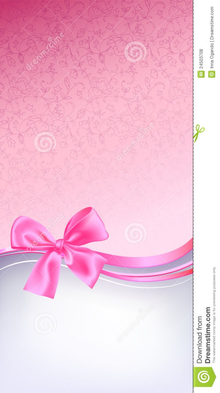 card template vector image id card  Pink bow background stock vector. Image of backdrop ..