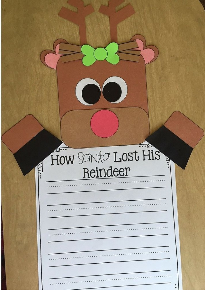 4th grade letter template for kids  Reindeer Writing Craft: A Writing Conventions Assessment ..