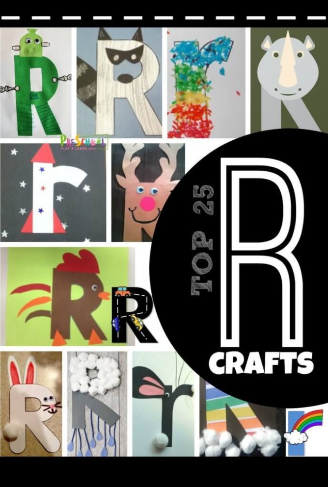 letter r rabbit craft template  Top 25 Letter R Crafts — Preschool Play and Learn - letter r rabbit craft template