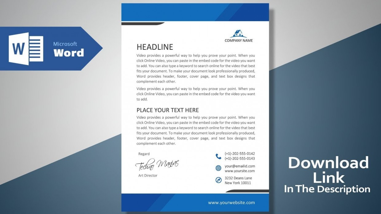free template design download  Create a Modern Professional Letterhead | Free Template ..