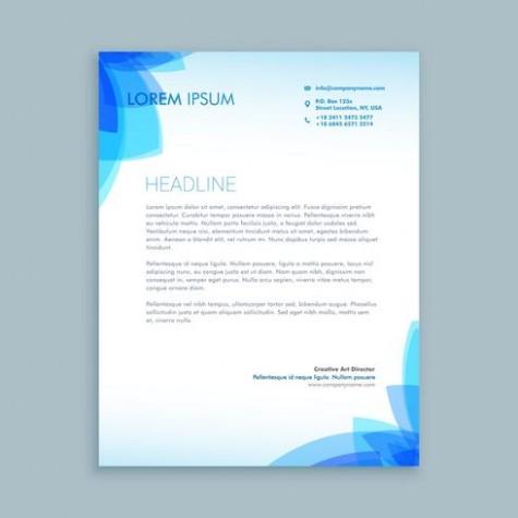 template design for letter  creative business letter template vector design ..