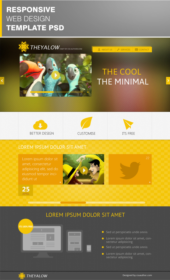 free template design download  Free website Templates: THEYALOW – A Responsive Web Design ..
