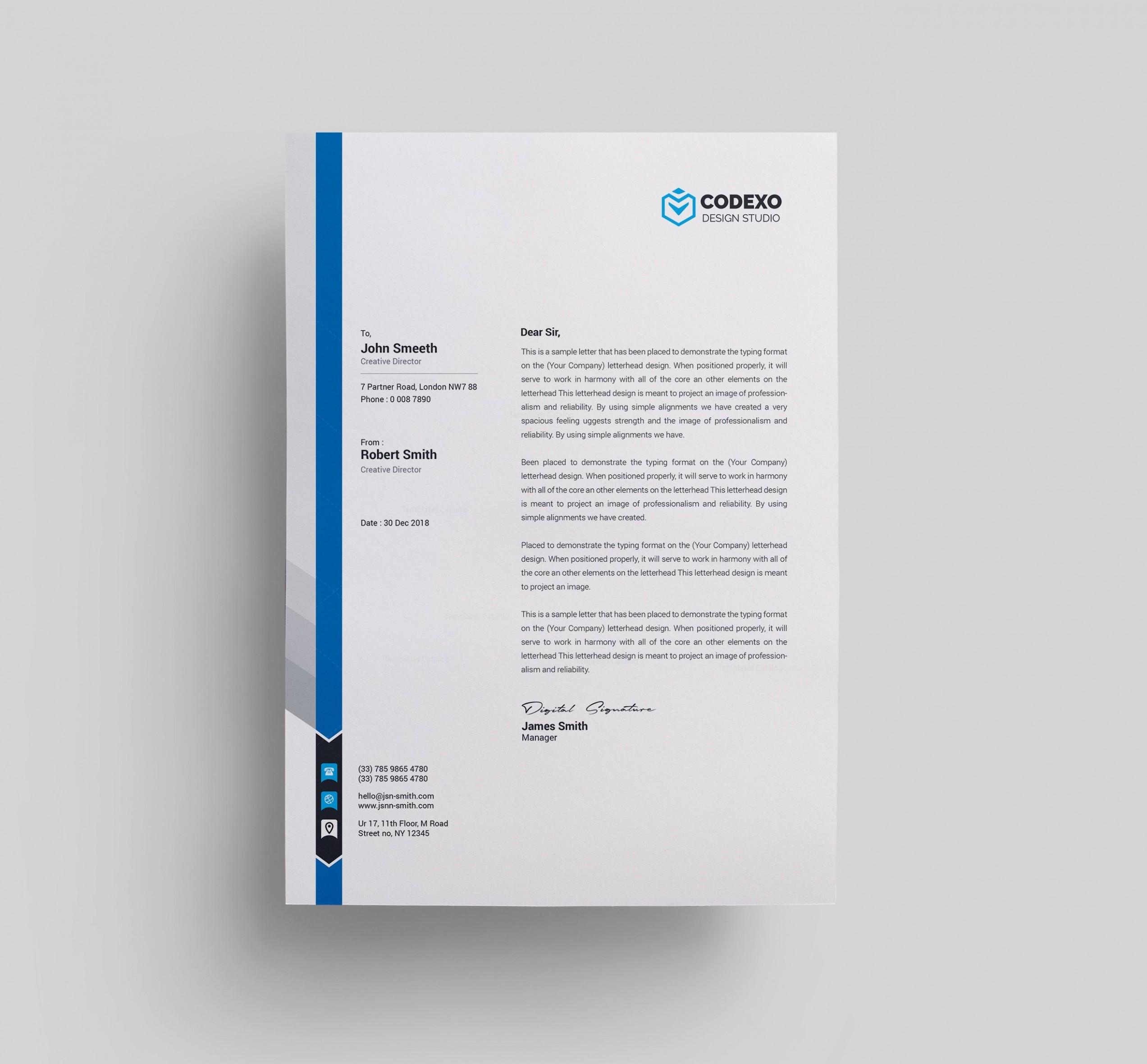 template design for letter  Letterhead Templates 000579 - Template Catalog - template design for letter