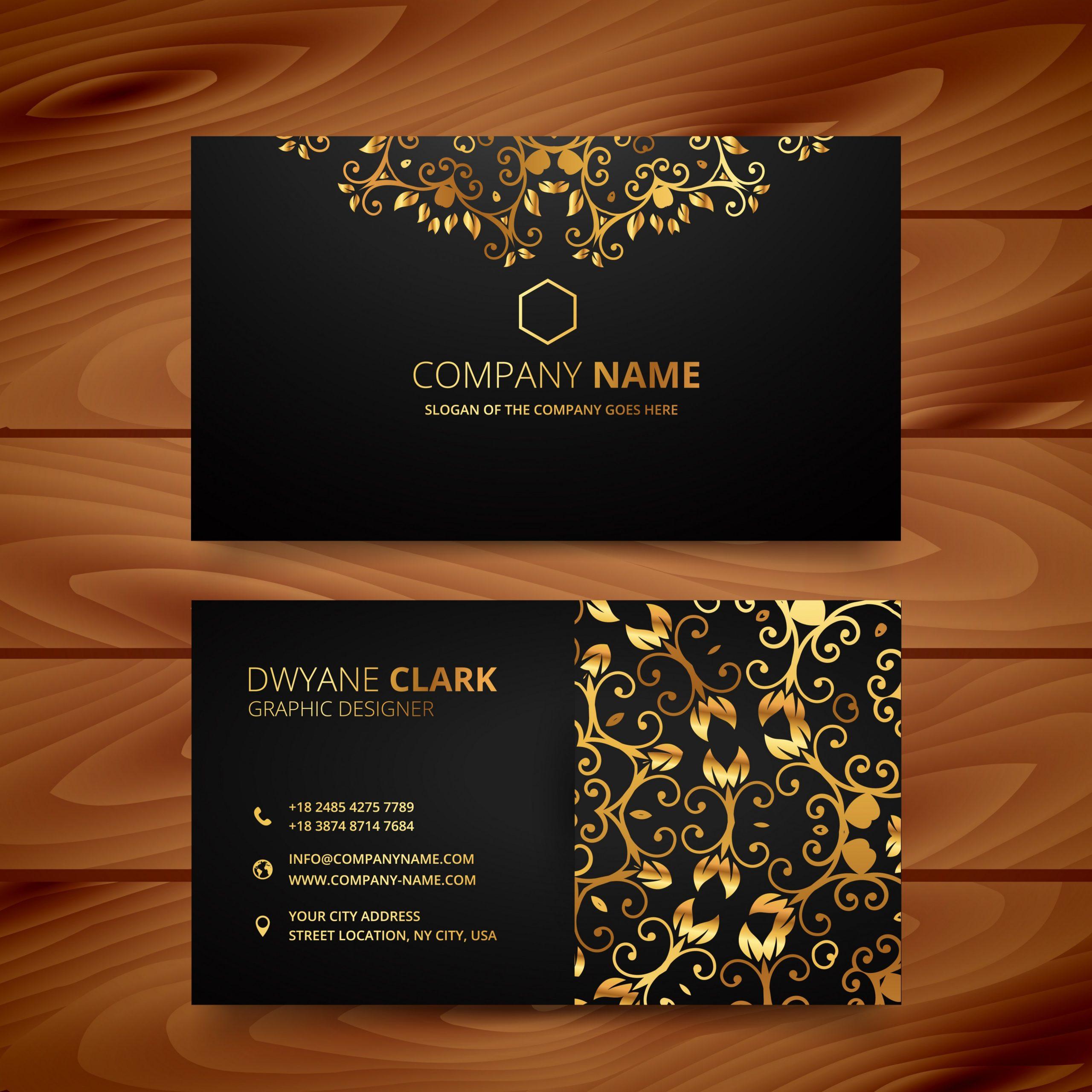 e-card design template  stylish golden premium luxury business card template ..