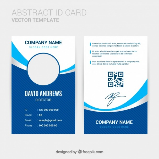 template design id card  Abstract id card template with flat design | Free Vector - template design id card