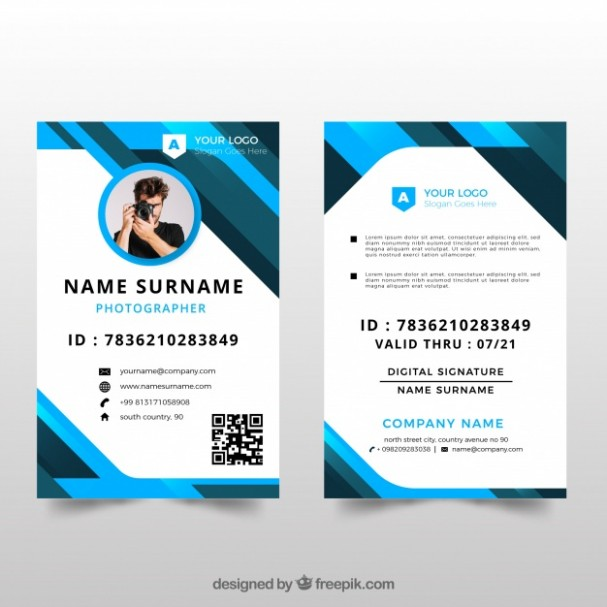 template design id card  Id card template with flat design Vector | Free Download - template design id card
