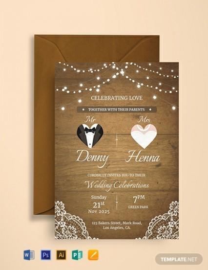 wedding e card template free download  1136+ FREE Invitation Templates - PDF | Word | PSD ..