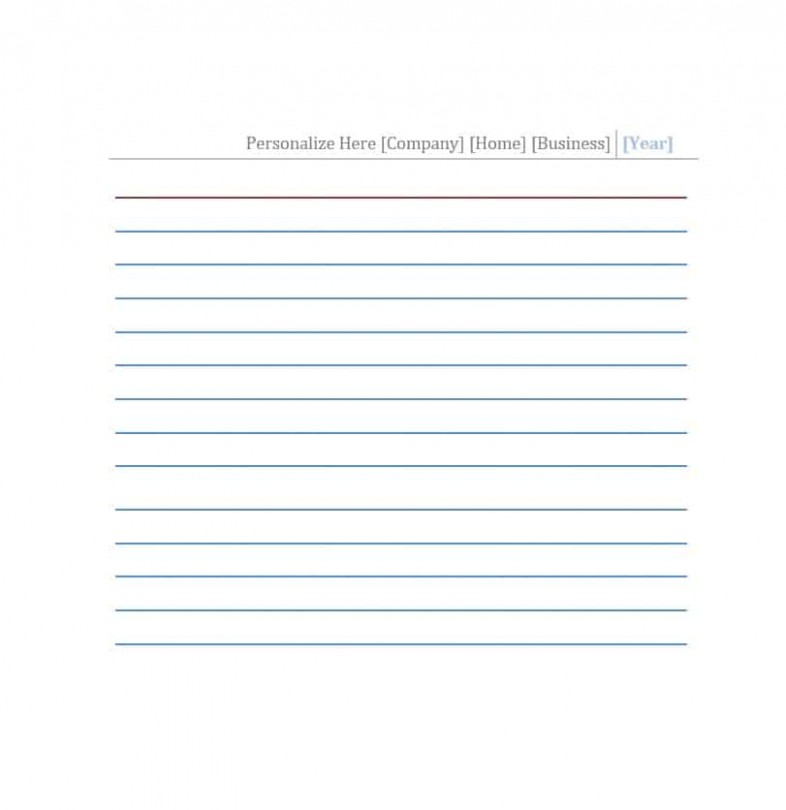 card template with lines  30 Simple Index / Flash Card Templates [Free] - Template ..