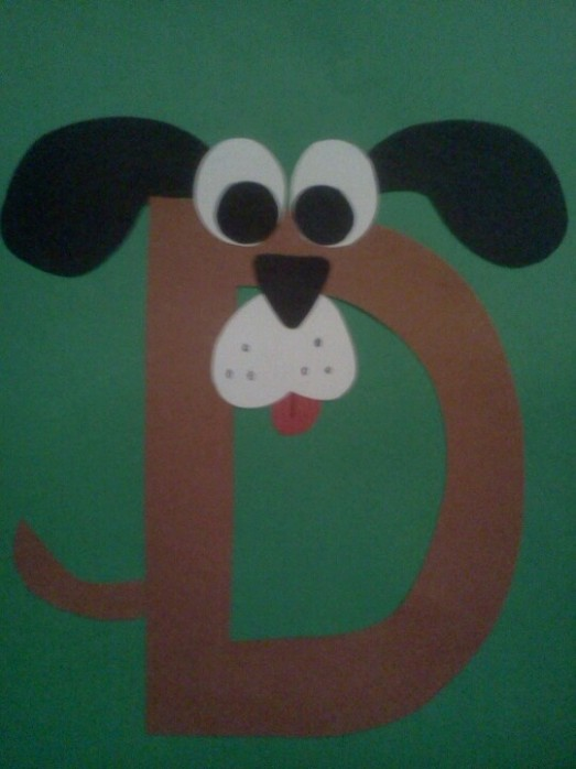 letter d dog craft template  31 best The Letter D images on Pinterest | For kids ..