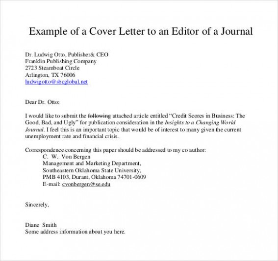 cover letter template journal  54+ Simple Cover Letter Templates - PDF, DOC | Free ..