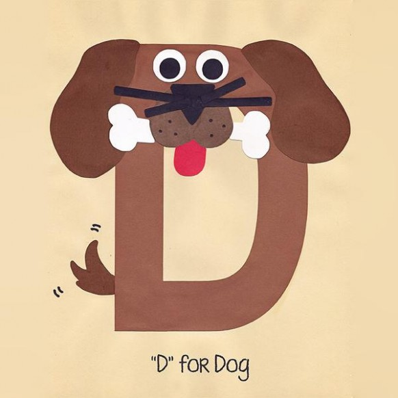 letter d dog craft template  Alphabet Art Template - Upper D (Dog) – Who Arted - letter d dog craft template