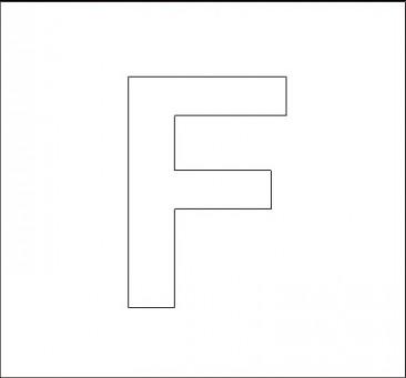 capital letter f template  Alphabet Stencils | All Kids Network - capital letter f template