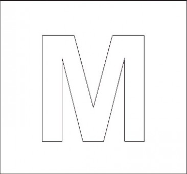 capital letter m template  Alphabet Stencils | All Kids Network - capital letter m template