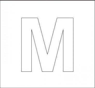 capital letter m template  Capital M Stencil | stencils | Alphabet stencils, Letter ..