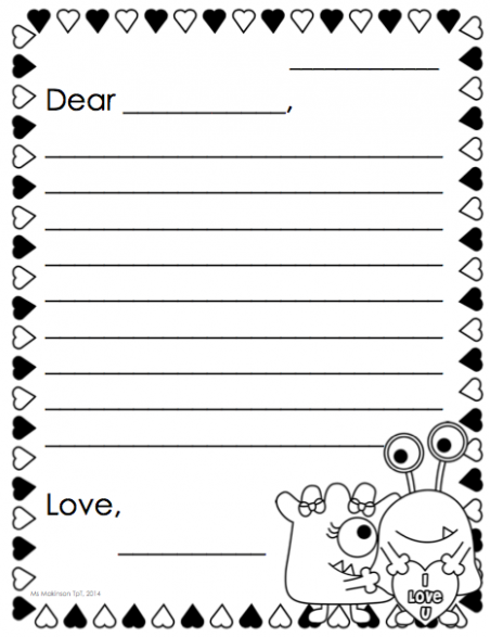 letter template kindergarten  February Printables - Kindergarten Literacy and Math ..