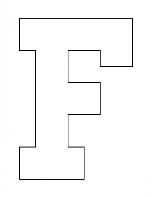 capital letter f template  Letter F pattern. Use the printable outline for crafts ..