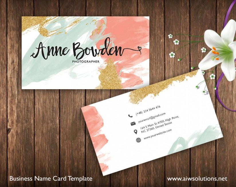 name card template  Name Card Template ~ Business Card Templates ~ Creative Market - name card template