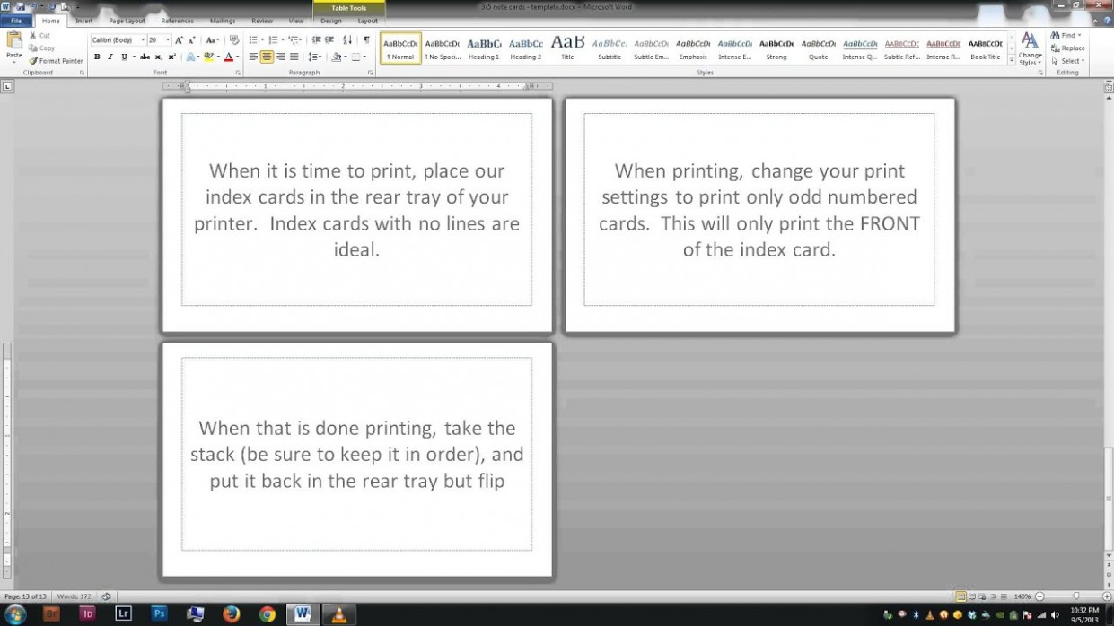 card template in word  Note/index cards - Word Template - YouTube - card template in word