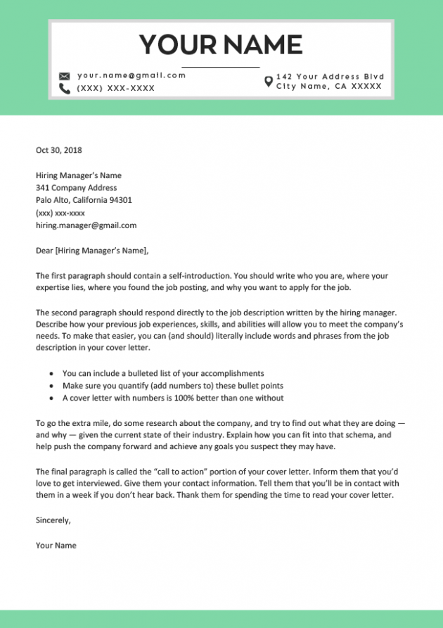 letter template aesthetic  Professional Cover Letter Templates - Free to Download ..
