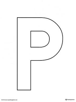 letter p template free  Uppercase Letter P Template Printable | MyTeachingStation
