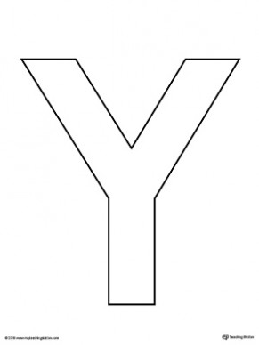 free printable letter y template  Uppercase Letter Y Template Printable | MyTeachingStation