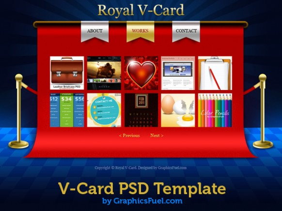 v card design template  V-Card website PSD templates - GraphicsFuel - v card design template