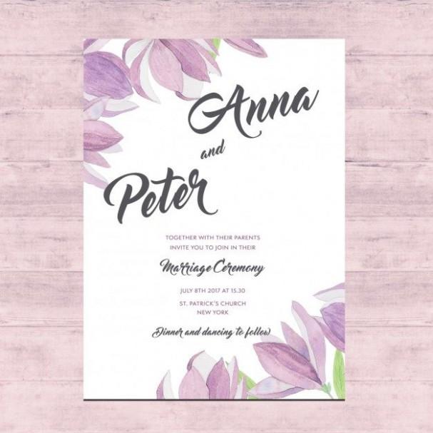 wedding e card template free download  Vector free download: Floral Wedding card - LTHEME - wedding e card template free download